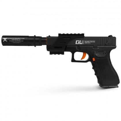 Ren Xiang Glock 18 Handgun Pistol (Manual) Gel Blaster (Black)
