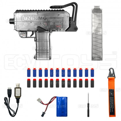 25cm UZI SMG Gel Blaster Kid's Toy - Auto (Transparent)